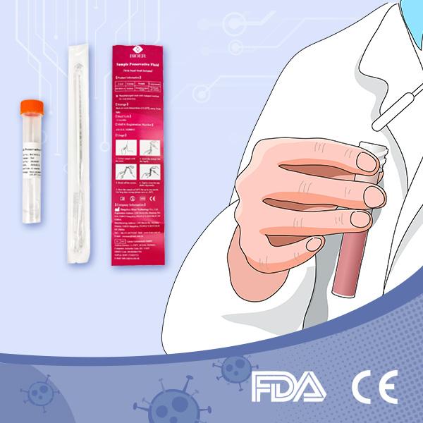Disposable Nasopharyngeal Nasal Swab Flocked Test Kits for Virus Sampling